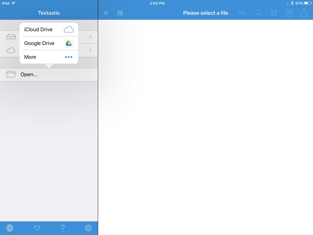 don't use Google Drive file type / Textastic for iOS / Textastic